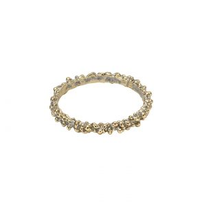 silvered brass ring