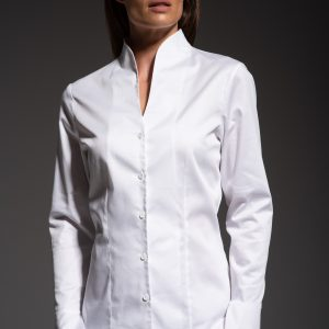 funnel collar shirt