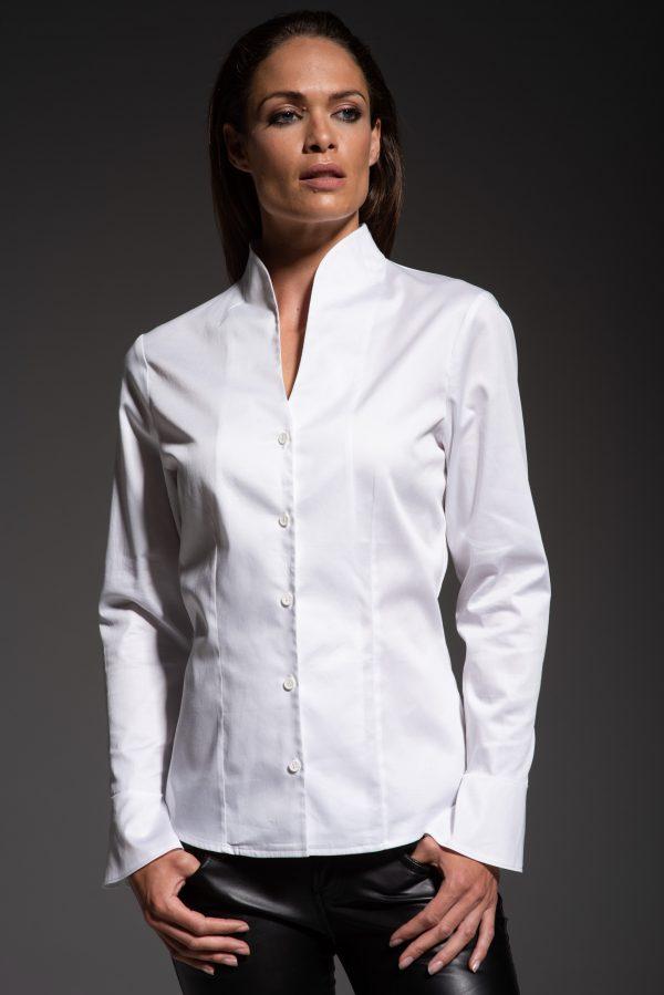 funnel collar shirt