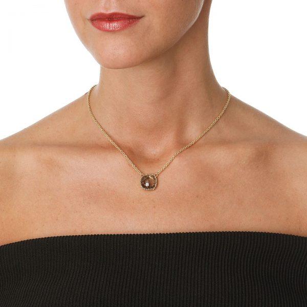 short smokey quartz necklace