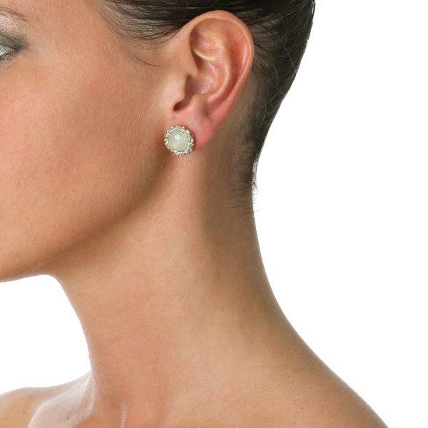 jade stud earring