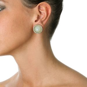pale jade stud earrings